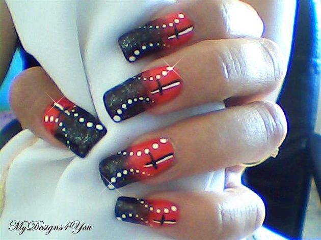 Halloween Abstract Cross Design Nail Art Gallery By Nails Magazine