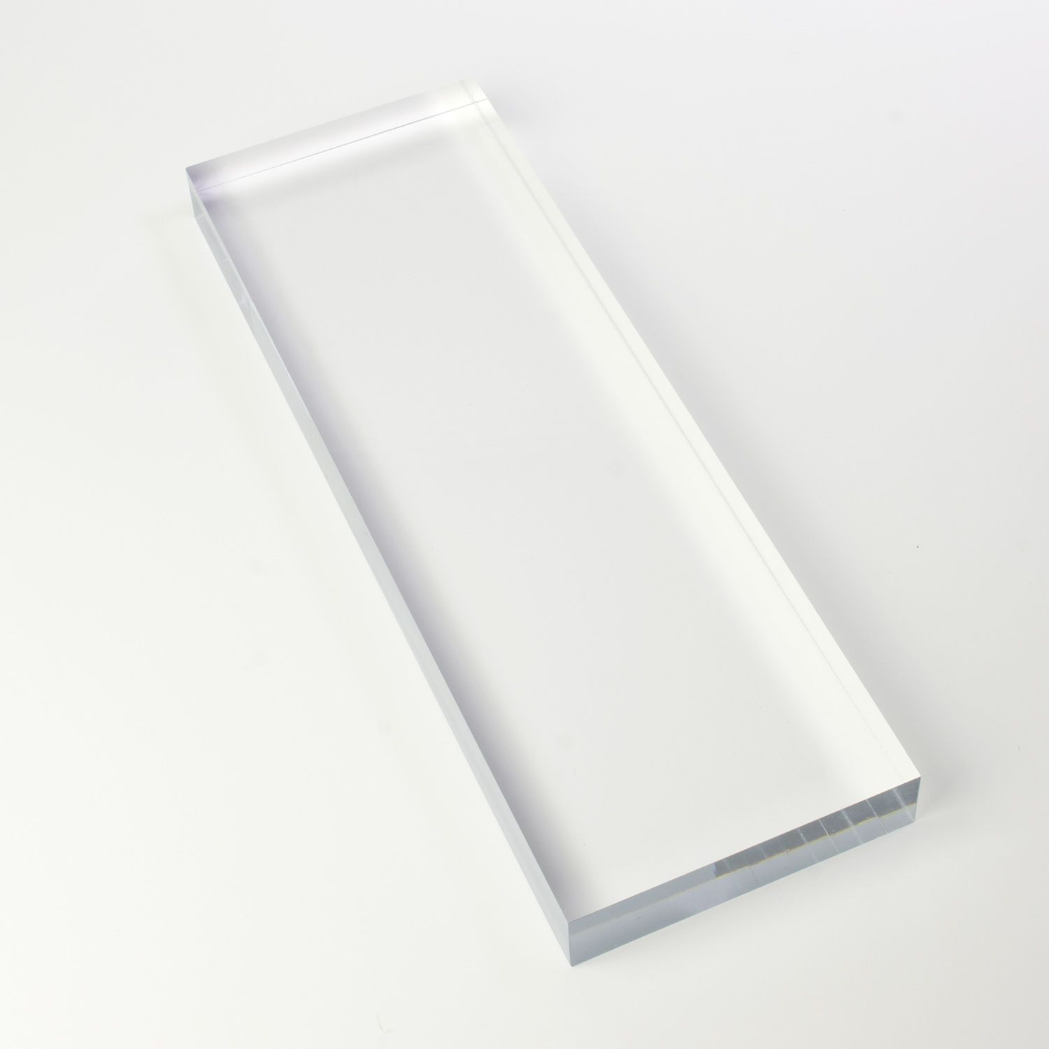 Solid Clear Acrylic Block 4 X 12 X 1 25 Thick Clear Acrylic Acrylic Acrylic Display