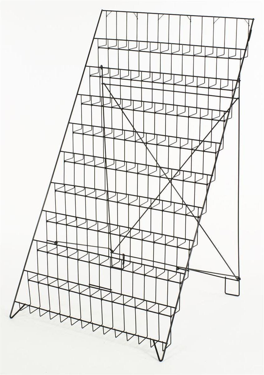 new 10 tier rack wire display magazine newspaper books  this wire display,  also known as a display stand, organizes and promotes your merchandise