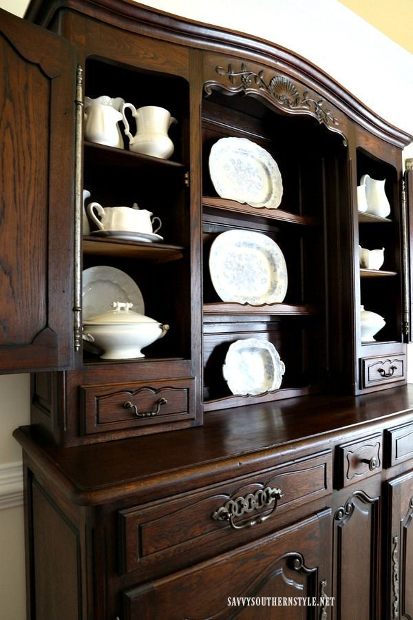 Antique French Hutch With Beautiful Detailsfrench Country Mesmerizing Antique Dining Room Hutch Inspiration