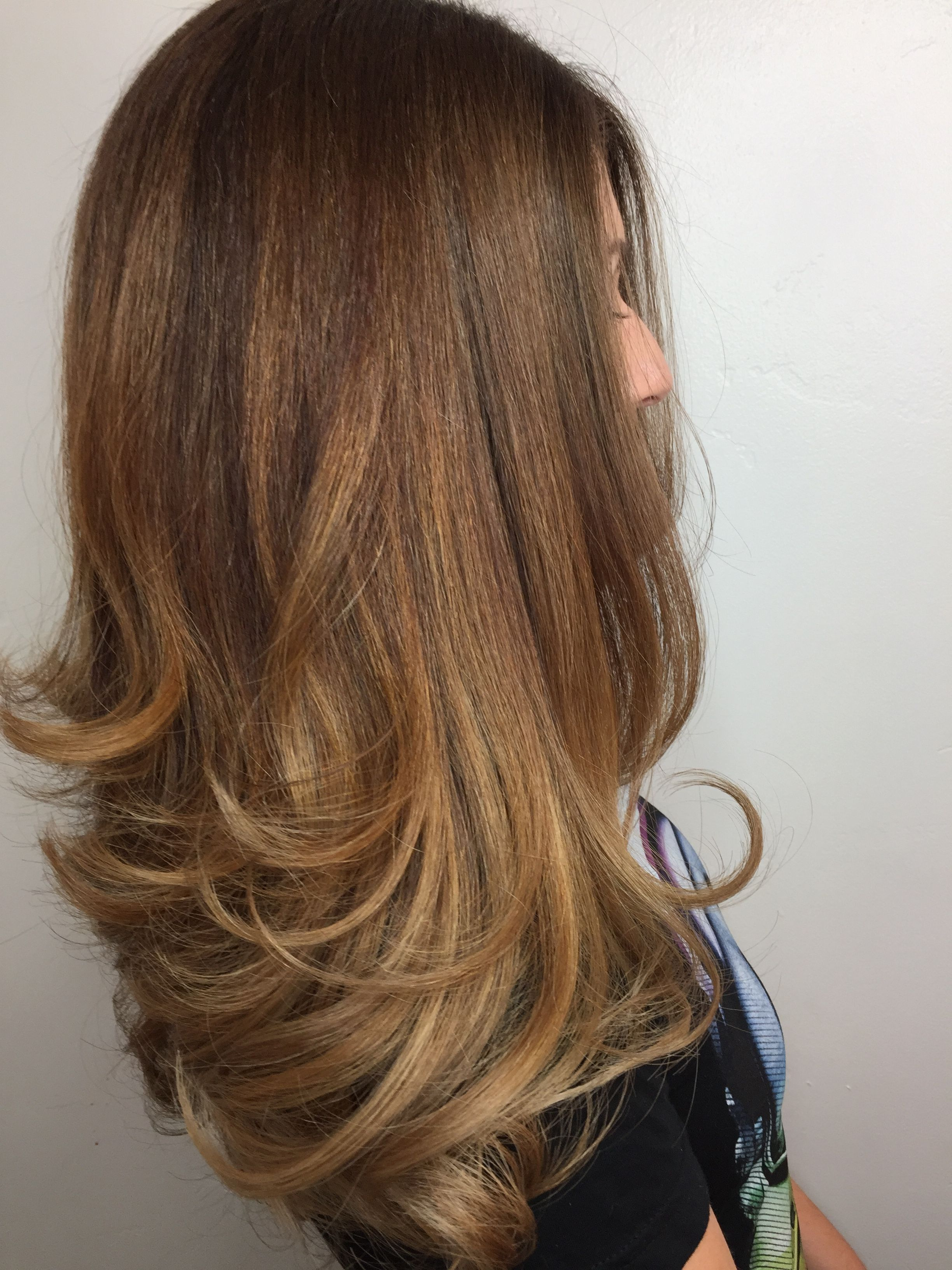 Caramel Balayage And Long Layers For Thick Hair Hair