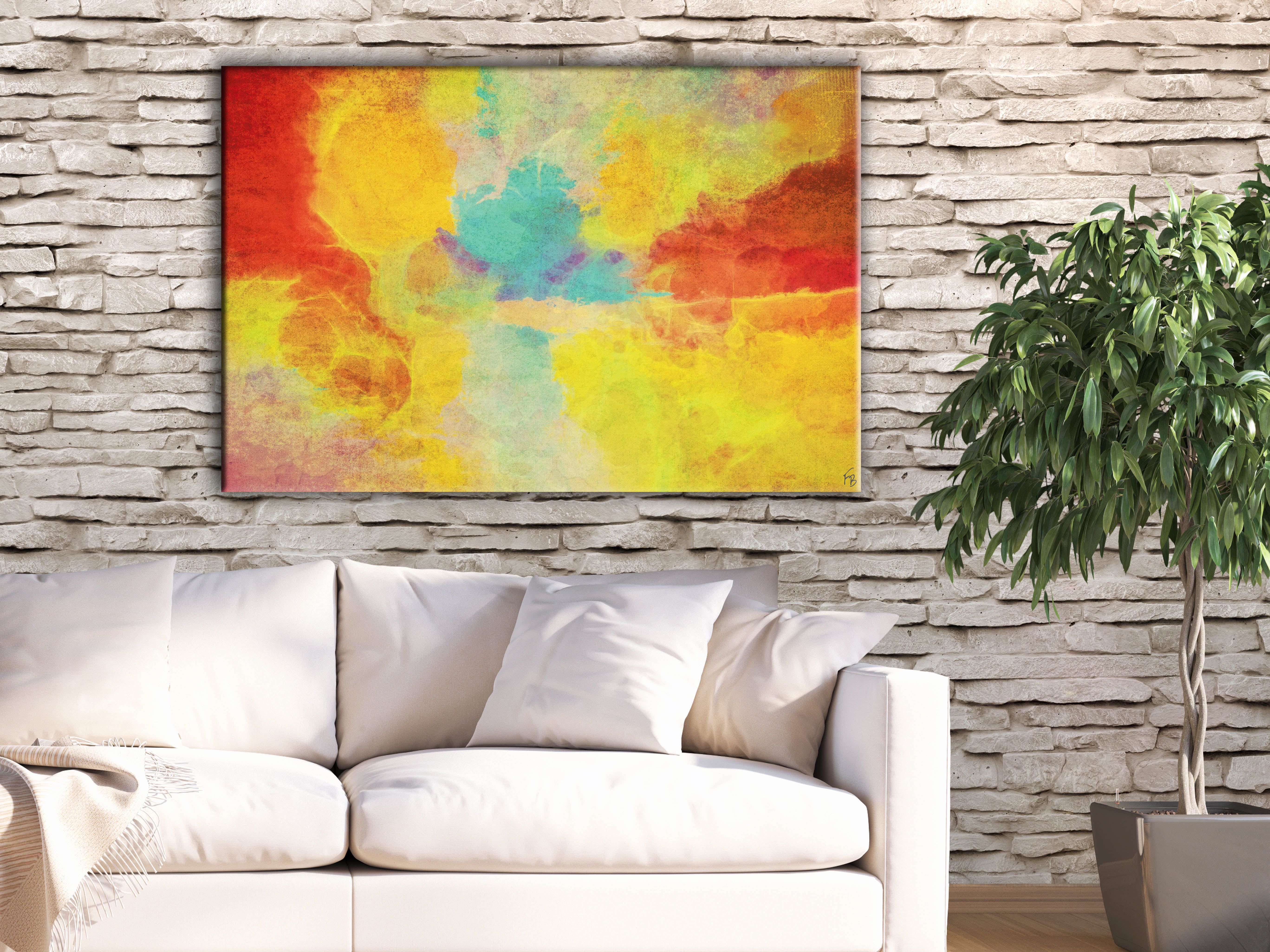 Tropical flair for your living space! Modern large print by FraBor ...