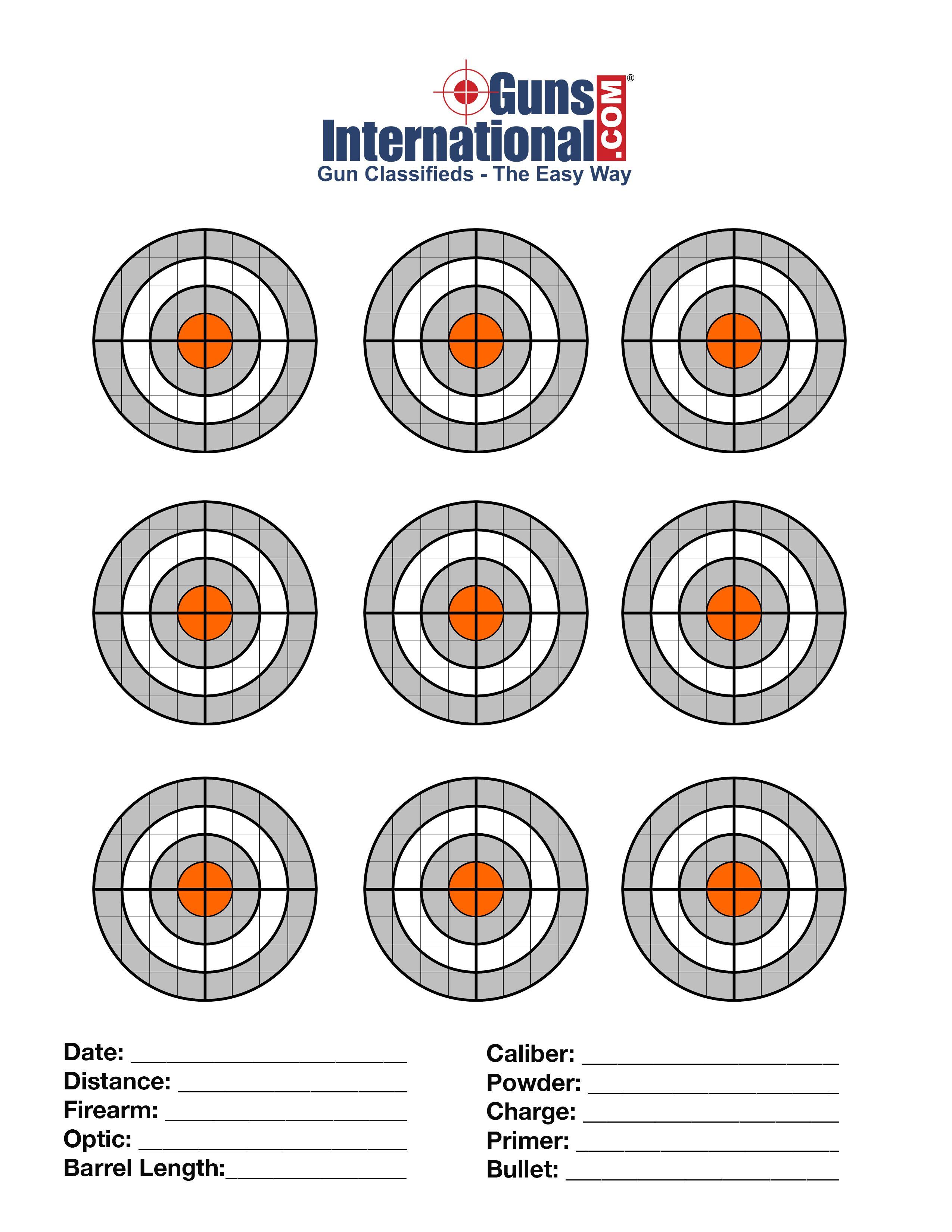 Pin on Shooting range targets
