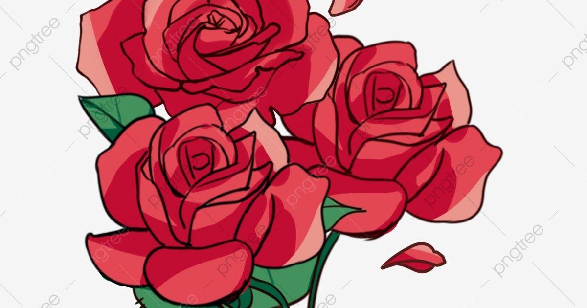 27 Gambar Kartun Bunga Ros Di 2020 Dengan Gambar Kartun