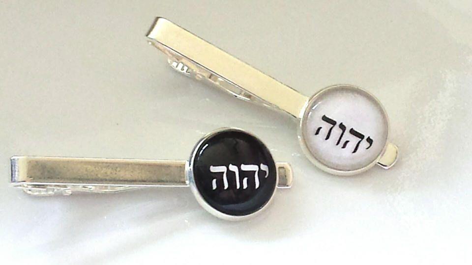 JW tie clips/JW tetragrammaton tie bars/JW accessory/jw