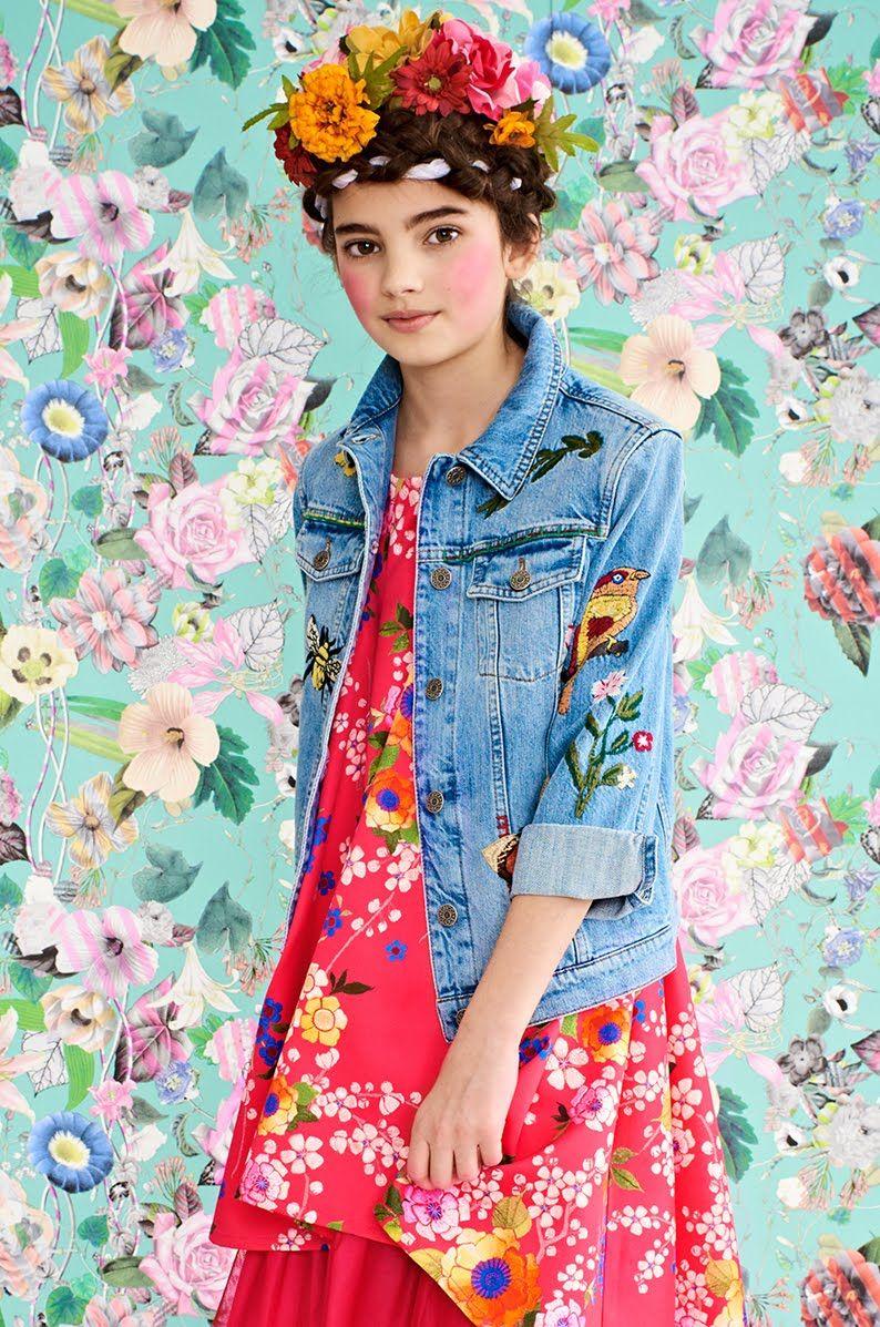 ALALOSHA: VOGUE ENFANTS: Must Have of the Day: Junior Gaultier girls Pink Floral Satin dress