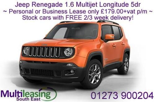 Personal Or Business Lease Jeep Renegade 1 6 Multijet Longitude Stock Cars Jeep Renegade Stock Car Car Lease
