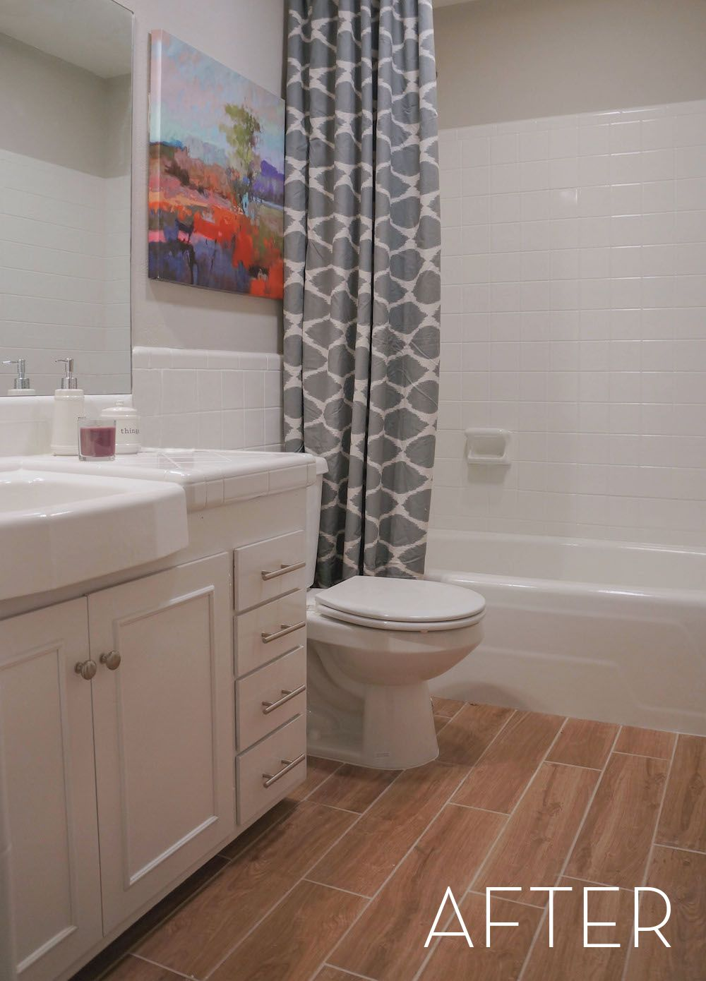 Before and After: Refinished Tile Bathroom Makeover | Bathroom ideas ...