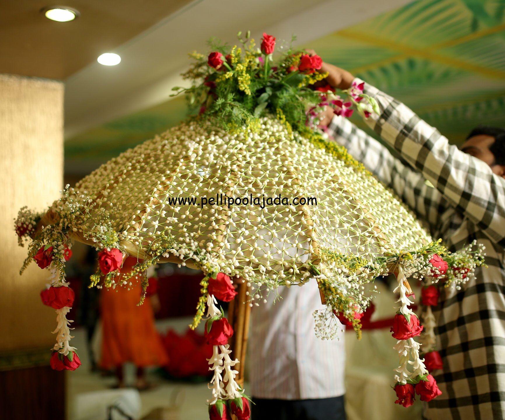 Flowers umbrella | Beautiful flowers garlands and flower decoration ...