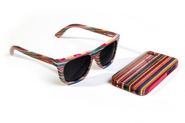 7827e9ac213b5 Diamond Supply gafas hechas de madera de skate