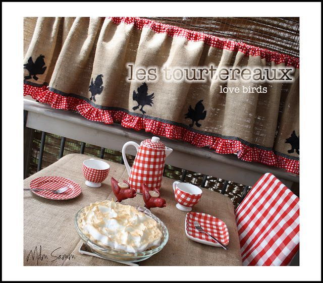 ! Sew We Quilt: French Country Burlap And Gingham A La Mdm
