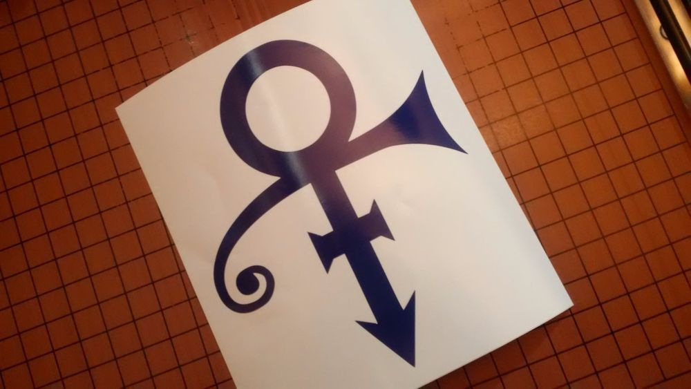 prince love symbol vinyl decal bumper sticker laptop purple rain