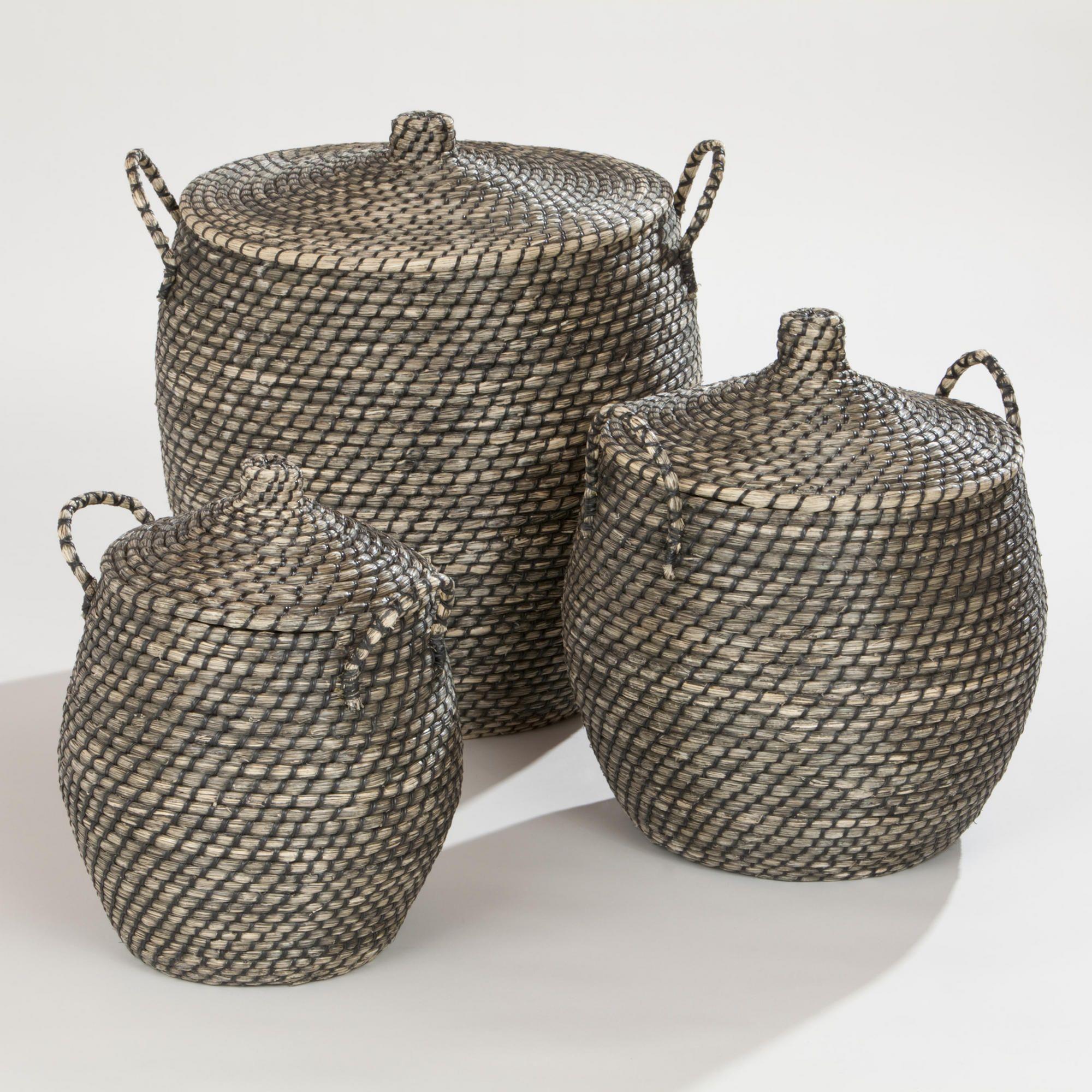 Jamilia Lidded Storage Basket Collection-Jamilia Lidded Storage Basket Collection | World Market