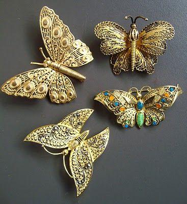 Las joyas de la mariquita magia mariposas en filigrana de for Banos electroliticos para joyeria