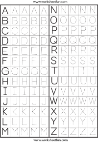 Worksheet Tracing The Alphabet Worksheets For Kindergarten letter tracing worksheets and on pinterest