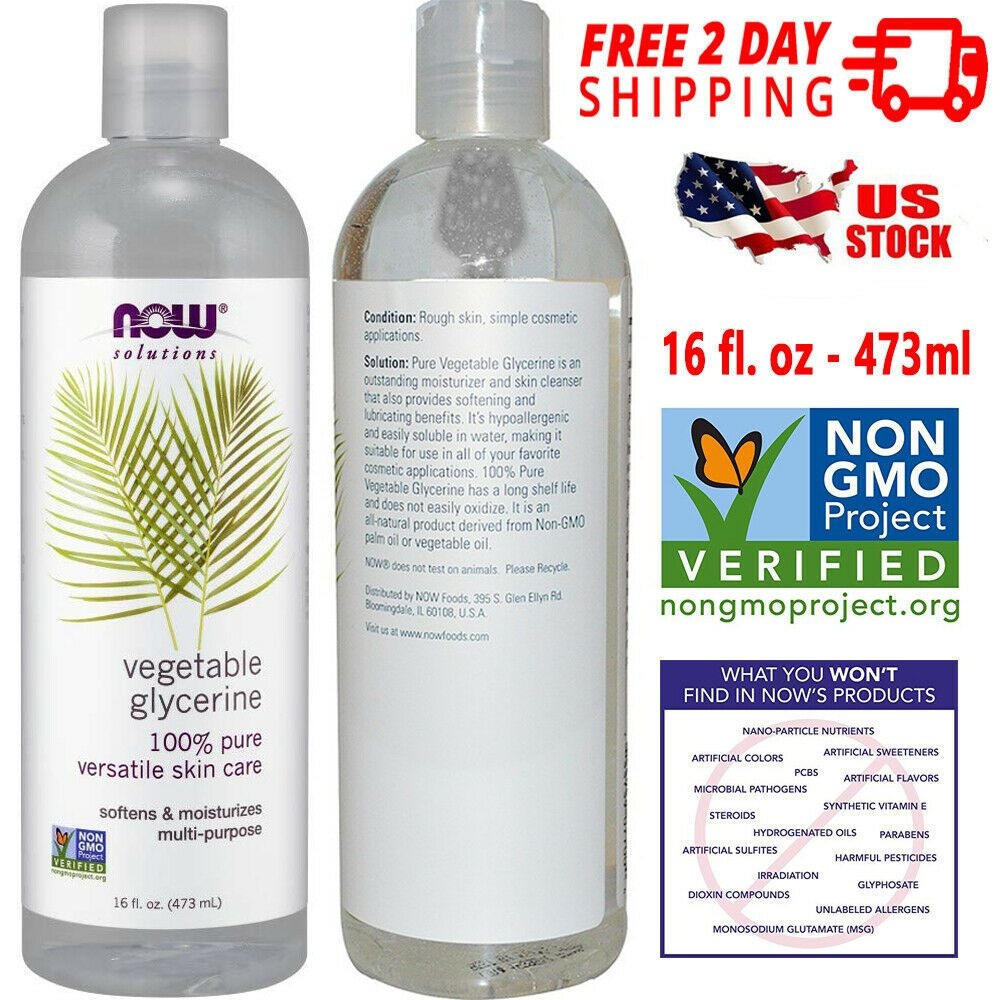 Now Solutions Vegetable Glycerine 100 Pure Versatile Moisturizer Skin Cleanser Nowsolutions