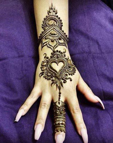 Mehndi Quotes For Her : New simple eid mehndi designs for hands  henna