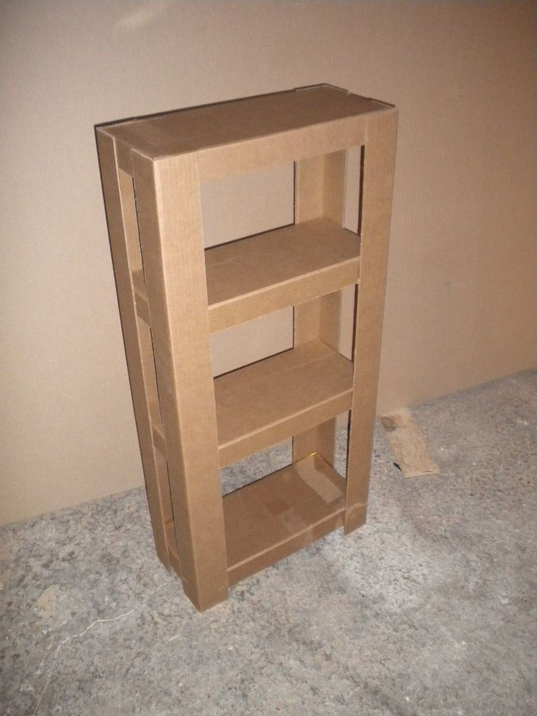 Easy cardboard shelves diy cardboard tutorials and shelves for Easy diy shelves