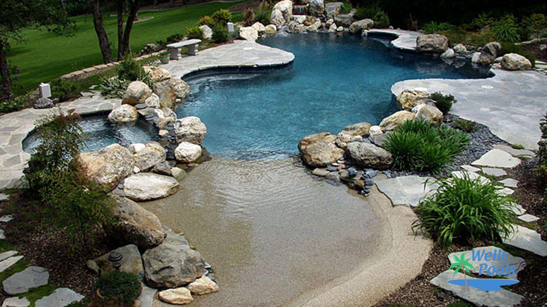 freeform pool 015 by wells pools stone pool pinterest pools
