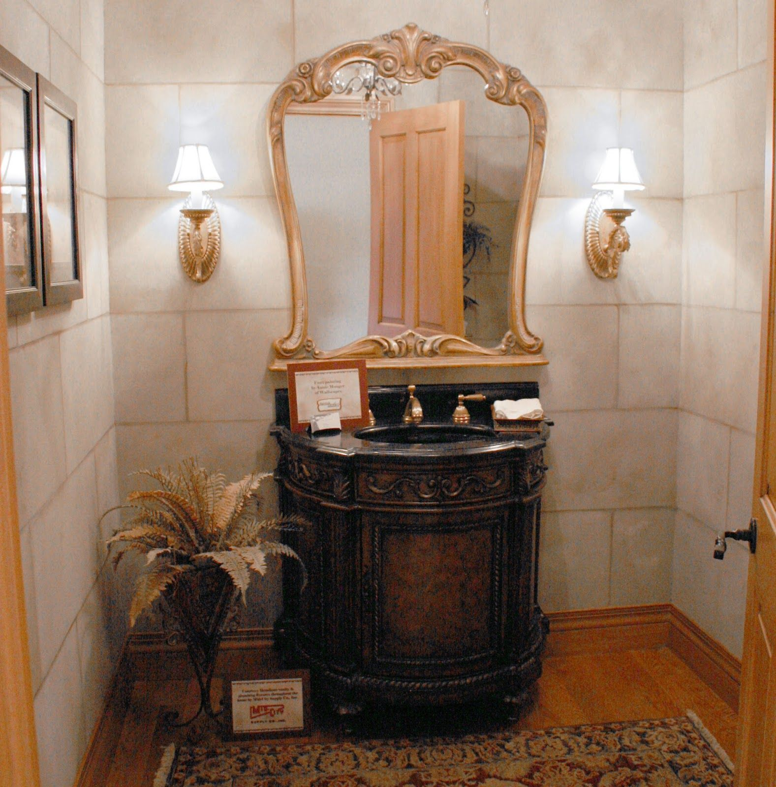 Importance Of Powder Room Vanities Darbylanefurniture Com In 2020 Powder Room Vanity Rustic Powder Room Powder Room Design