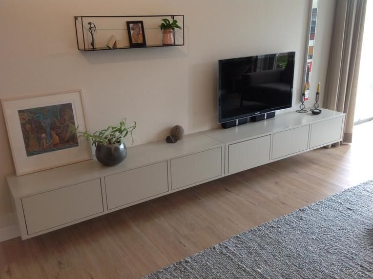 46++ Floating tv console ikea trends