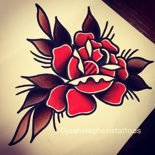 Image Result For Old School Flower Tattoos Designs For Men Tats