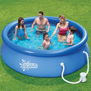 Walmart Summer Escapes 10 X 30 Quick Set Swimming Pool Swimming Pool Designs Inflatable Pool Small Swimming Pools