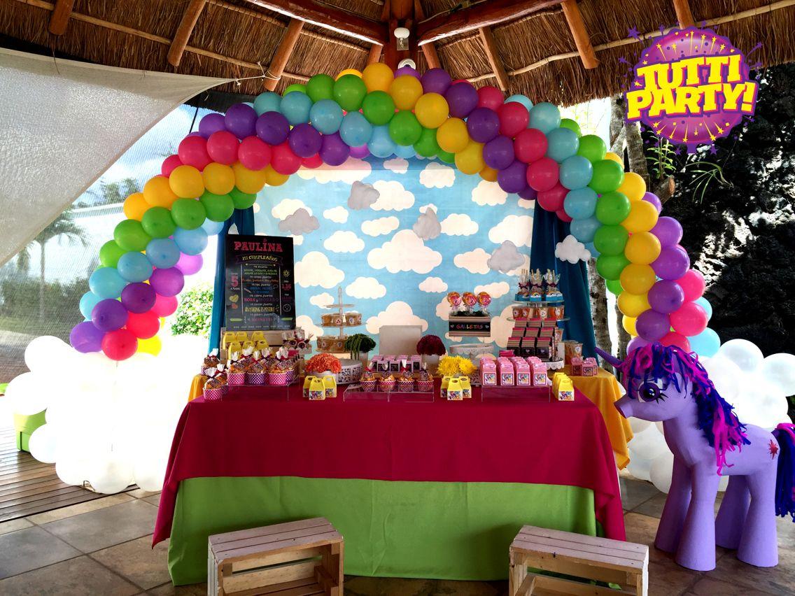 My Little Pony, Rainbow Pastel Colors, Rainbow Balloons Decorations, Rainbow  Party Ideas,