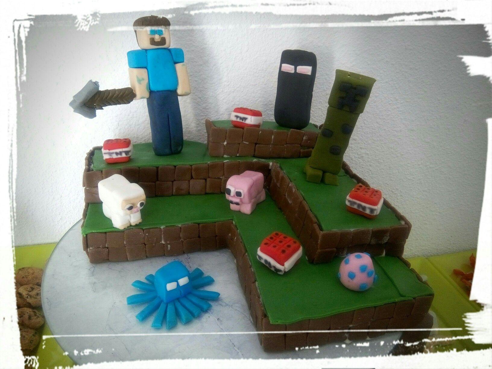 Gâteau Minecraft