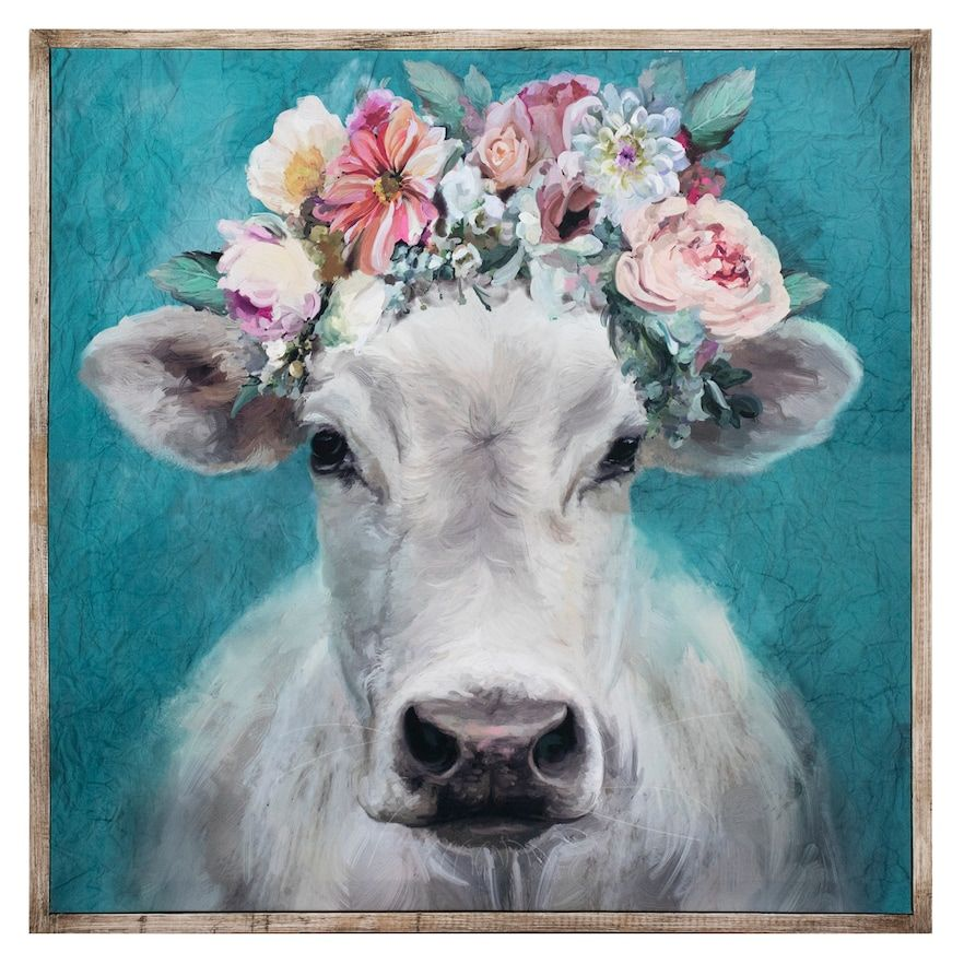 Fine Art Canvas Fancy Cows Canvas In Barnwood Frame Cow Canvas Canvas Art Prints Canvas Art