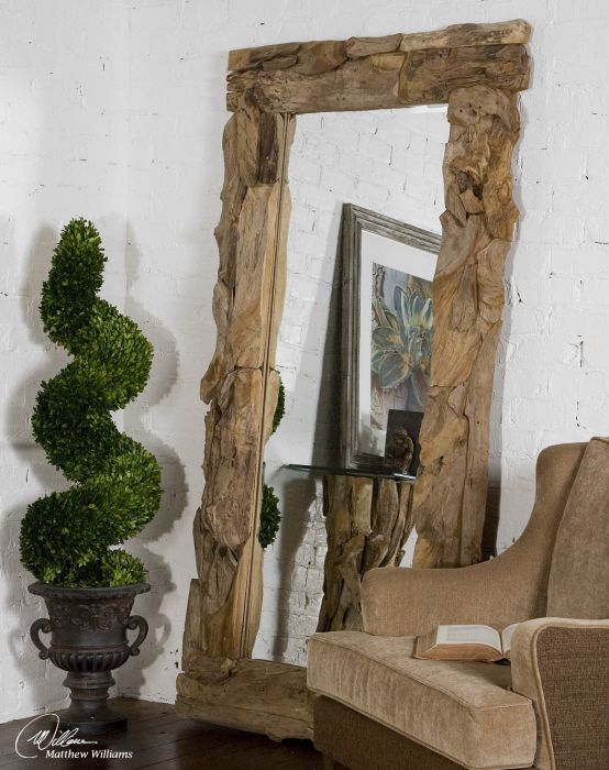 mirror | mirrors | Pinterest | Teak, Uttermost mirrors and Matthew ...