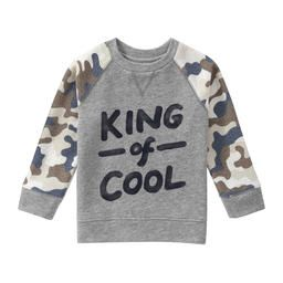 304c629c9 Toddler Boys  Contrast Sleeve Graphic Sweatshirt