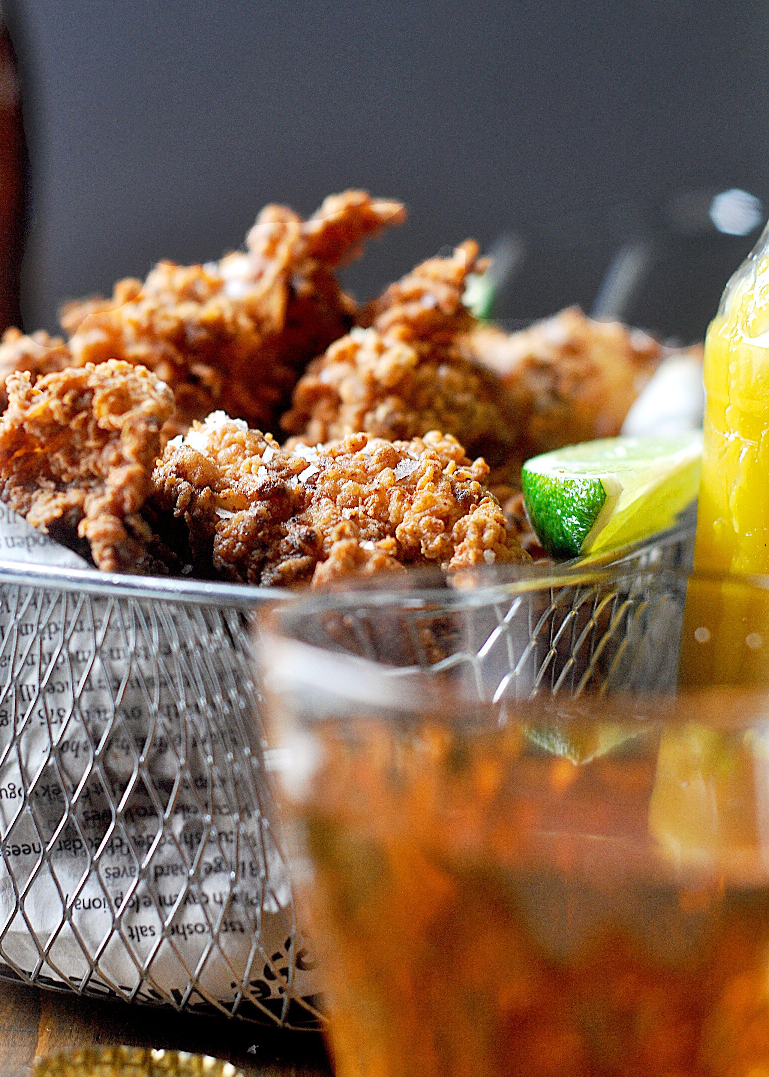 Spicy Fried Chicken With Mango Habanero Hot Sauce Recipe Spicy Fried Chicken Habanero Hot Sauce Fried Chicken