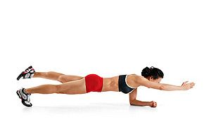 Image result for Plank with Opposite Arm and Leg Raise
