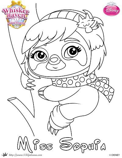 Whisker Haven Tales Coloring Page Of Miss Sophia Super Coloring Pages Coloring Pages Disney Coloring Pages