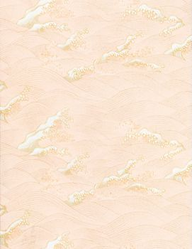 Yuzen Pink Gold Waves Fine Paper