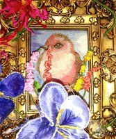 Embroidered bird and flowers by scroogemackkduck