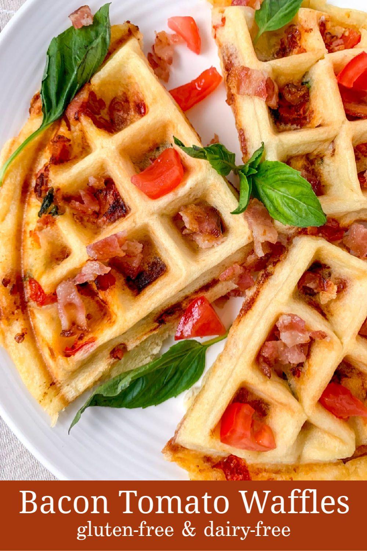 Bacon tomato stuffed waffle recipe glutenfree dairy