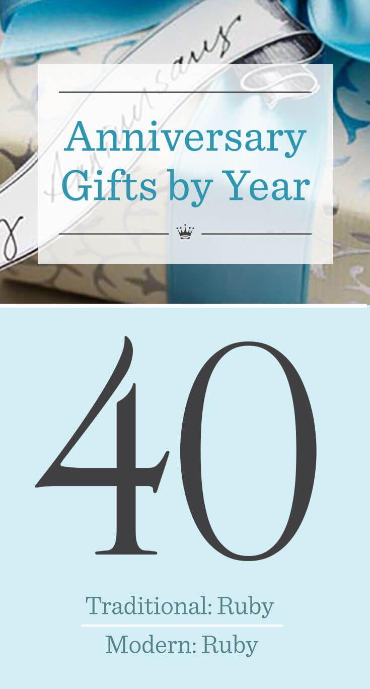 40th Wedding Anniversary Gift Ideas 40th Wedding Anniversary