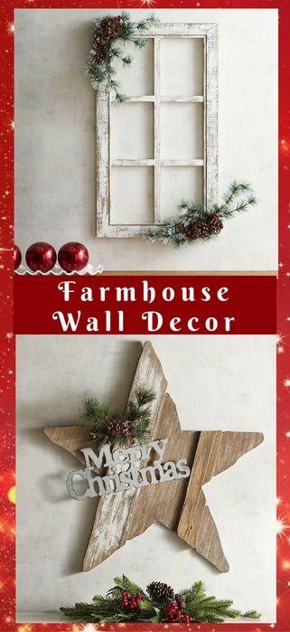 Love these wall decors The farmhouse rustic look NNT #homedecor - christmas decors