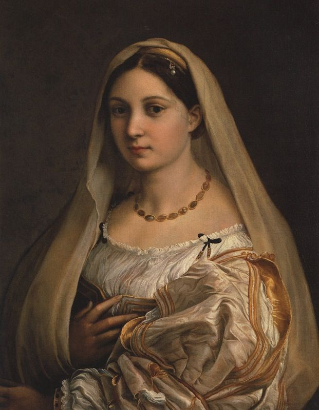 La Velata, by Raphael. We drove down to Portland just to meet her.
