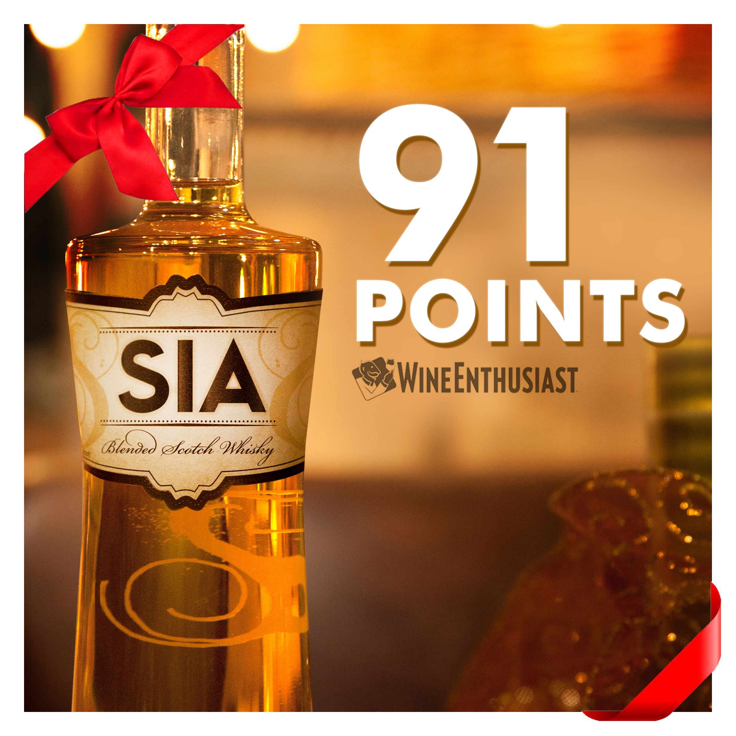 """The Top Whisky Gift Under $50 – SIA Scotch is the perfect gift for your client, family member or friend this holiday. Rated """"Outstanding"""" from Whisky Advocate Magazine, 91 Points from Wine Enthusiast, and a Double Gold Medal Winner, SIA Scotch Whisky is the perfect gift idea this holiday season. Shipping available."""