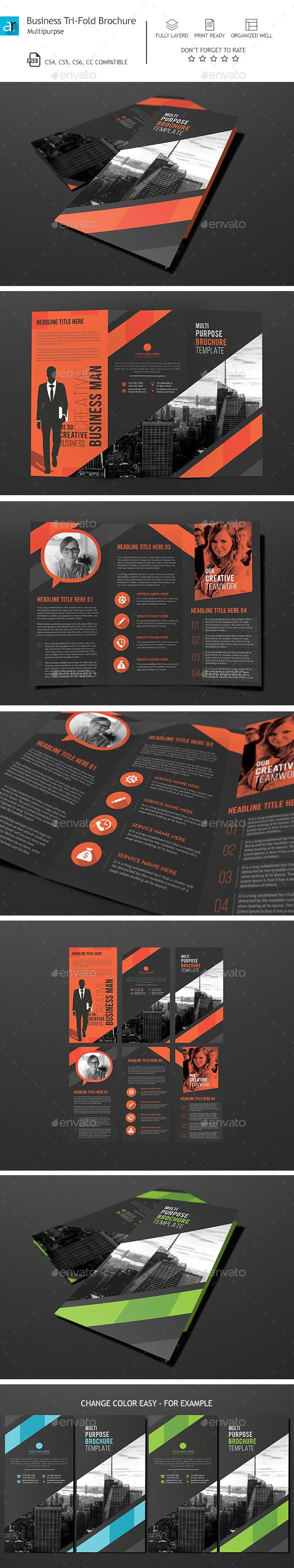 Corporate Tri-Fold Brochure Template PSD. Download here: http://graphicriver.net/item/corporate-trifold-brochure-04/14770964?ref=ksioks