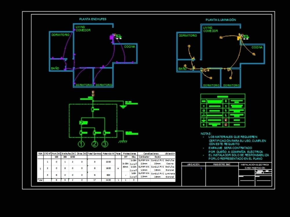 Electric Plane Normalized Chile Autocad Plano House Floor Plans