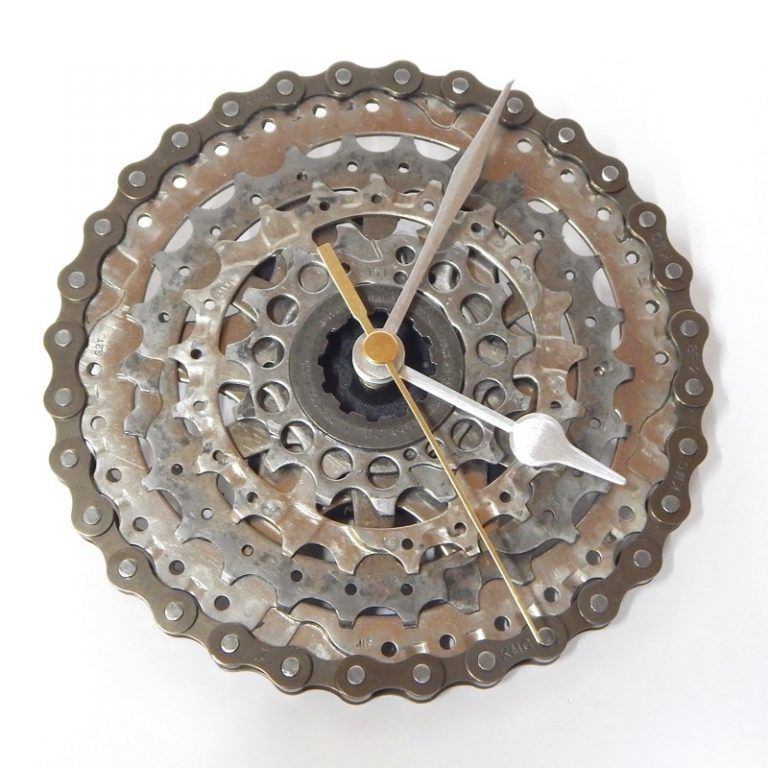 Recycled Ever Ready Bicycle Light Desk Clock Recycle Bicycle Desk Clock Clock Bicycle Lights