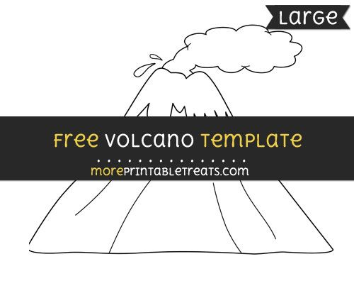 Free volcano template large shapes and templates printables free volcano template large 4 element project yourself volcanoes dinosaurs letter maxwellsz