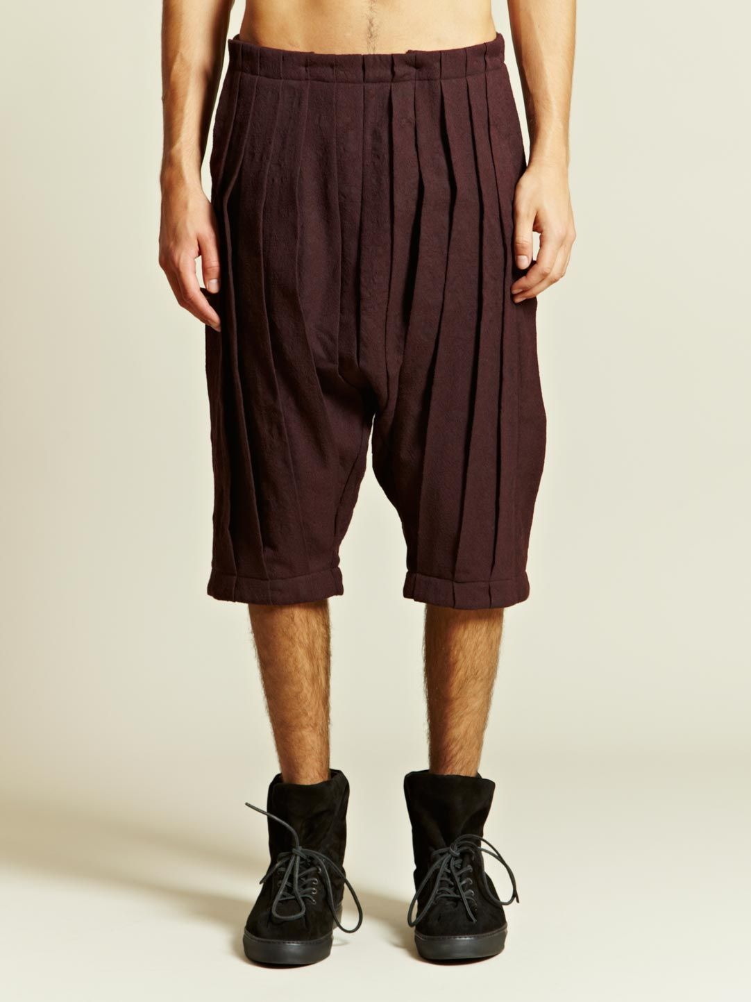Individual Sentiments Men's Woven Pleats Pants | LN-CC