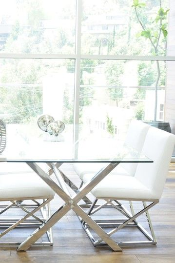 Incroyable Vertigo Faux Leather Dining Chairs   White   Set Of 2 By Mid Century  Furniture On @HauteLook