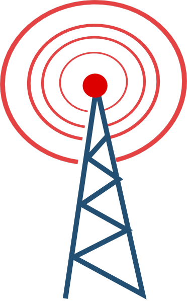 Vector Radio Tower Broadcast Clipart - Free Clip Art ...