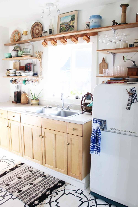 Mensulas blancas para las respisas de madera. | Cocinas | Pinterest ...